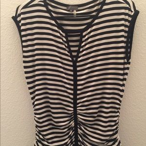 Vince Camuto Black and White Stripped top